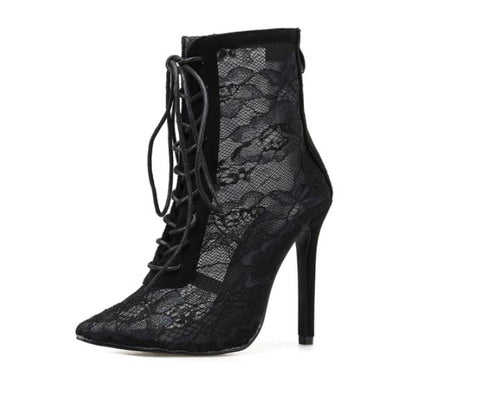 Lace Boot Pumps