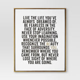 "16"" x 20"" Be You Framed Canvas -"