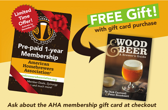 Homebrewing Association Membership and  Wood Beer Book