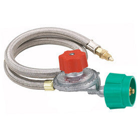 "Bayou Classic 10 PSI adjustable regulator with 36"" Stainless Braided Hose"