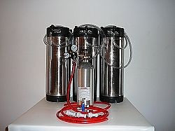 Three Tap Basic Ball Lock Home Brew System