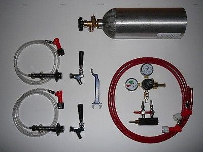 Two Tap Fridge Conversion Kit for Pin Lock Homebrewing Kegs