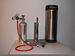 Single Tap Tower Kegerator Kit With 1 Ball Lock Corny Keg