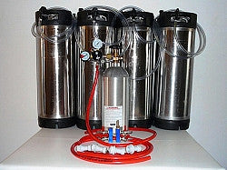 Four Tap Basic Pin Lock Home Brew System
