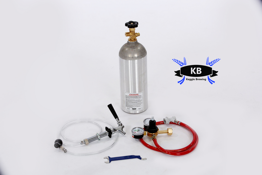 Single Tap Kegerator Conversion Kit for Single Ball Lock Homebrewing Keg