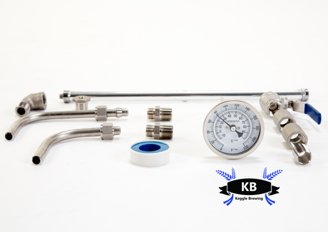 Keggle or Kettle Conversion Hot LiquorTank Kit (welded)