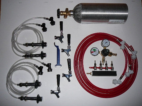 Four Tap Fridge Conversion Kit for Ball Lock Homebrewing Kegs
