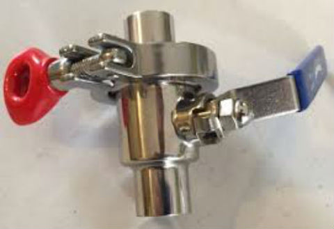 "1/2"" NPT Stainless Steel Quick Clean Ball Valve"