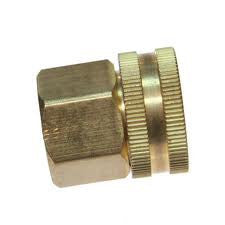 Female Water Hose Swivel to Female 3/4 NPT