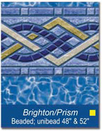 "48"" and 52"" Unibead Brighton/Prism Above Ground Pool Liner - Pool Supply Warehouse"