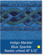 "48"" and 52"" Unibead Indigo Marble/Blue Sparkle Above Ground Pool Liner - Pool Supply Warehouse"