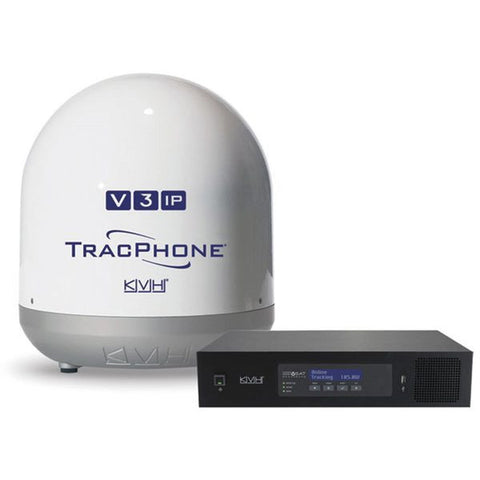 KVH-01-0335-11-TracPhone V3-IP; Ku-band Antenna; Rack-mountable Integrated CommBox Modem (ICM)