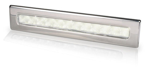 Hella Marine-2JA 980 681-501-LED STRIP LAMP WAIHEKE 24V WHITE - POLISHED 316 S/S BEZEL