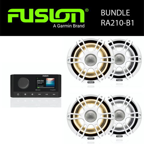 Fusion Marine Audio - MS-RA210 Stereo & Speaker Bundles