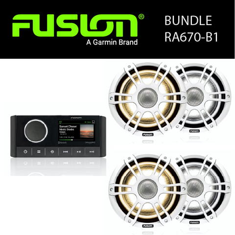 Fusion Marine Audio - MS-RA670 Stereo & Speaker Bundles