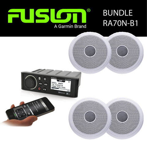 Fusion Marine Audio - MS-RA70N Stereo & Speaker Bundles