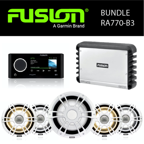 Fusion Marine Audio - MS-RA770 Stereo, Amplifier, Speaker & Sub Party Bundles