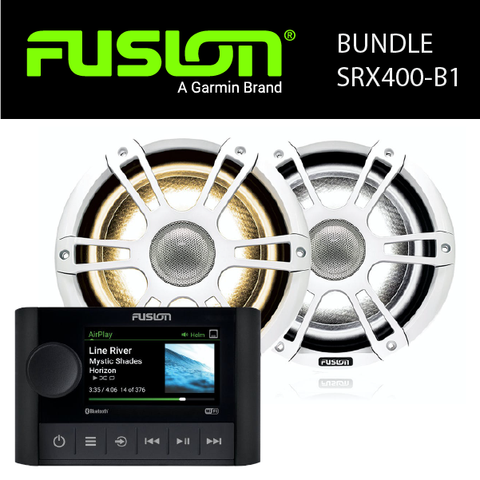 Fusion Marine Audio - MS-SRX400 Stereo & Speaker Bundles