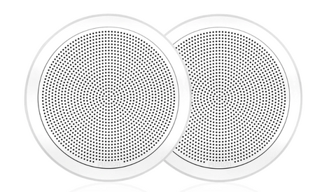 "Fusion - FM Series 7.7"" 200 Watt Flush Mount Round Marine Speakers - FM-F77RW (White) 