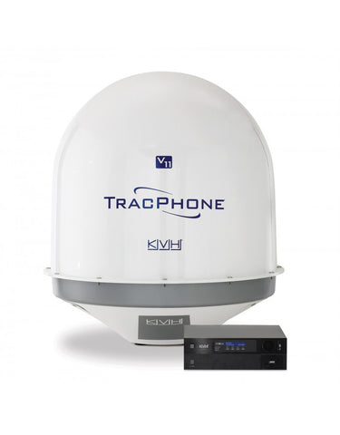 KVH-01-0350-11-TracPhone V11-IP; Dual-mode C/Ku-band Antenna; Rack-mountable Integrated CommBox Modem (ICM)