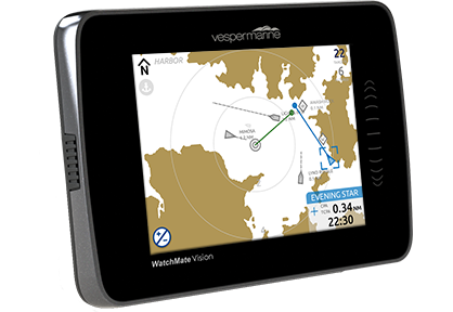 Vesper Marine-XB9000-WatchMate Vision color touchscreen class B AIS with NMEA 2000, USB, WiFi (built-in GPS antenna)