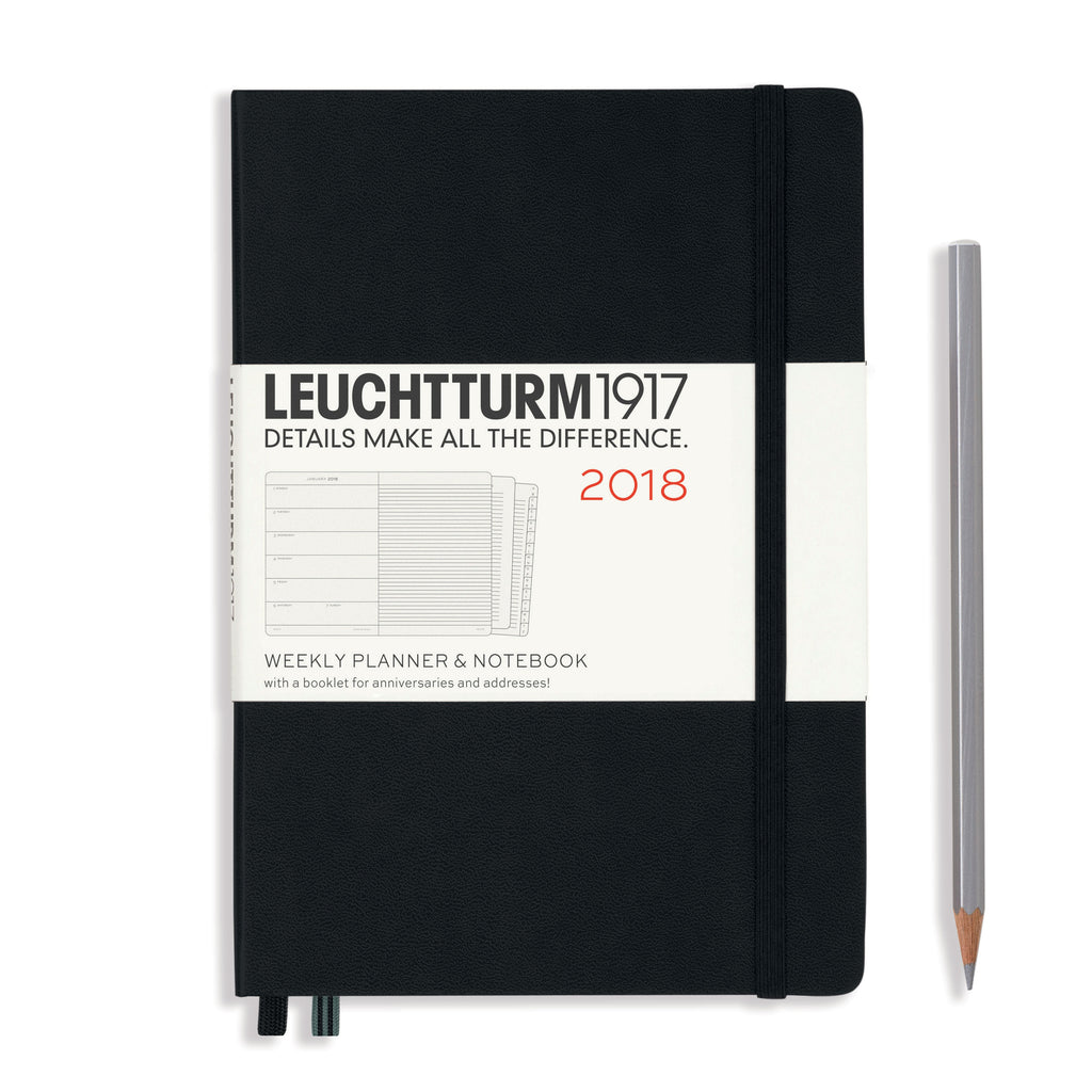2018 Diary - Weekly Planner & Notebook A5 Hardcover