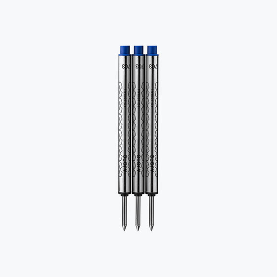 Ajoto - Rollerball Refills - Blue - Pack of 3
