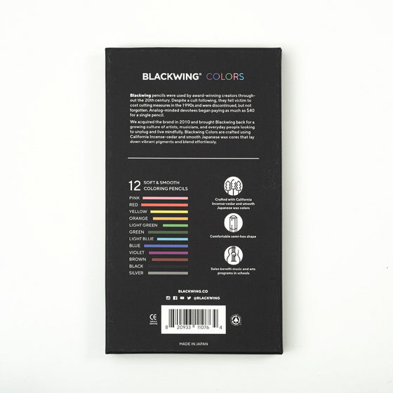 Palomino Blackwing - Coloured Pencils - Set of 12
