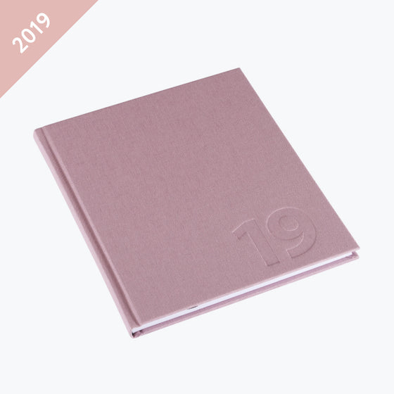 Bookbinders Design - 2019 Diary - Hardcover - Regular - Dusty Pink