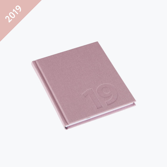 Bookbinders Design - 2019 Diary - Hardcover - Small - Dusty Pink