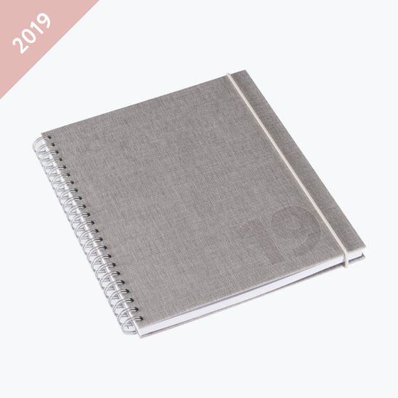 Bookbinders Design - 2019 Diary - Wire-O - Regular - Kalkstein
