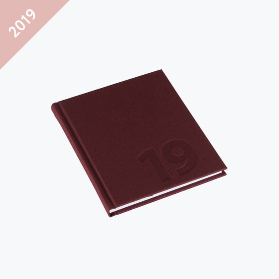 Bookbinders Design - 2019 Diary - Hardcover - Small - Burgundy