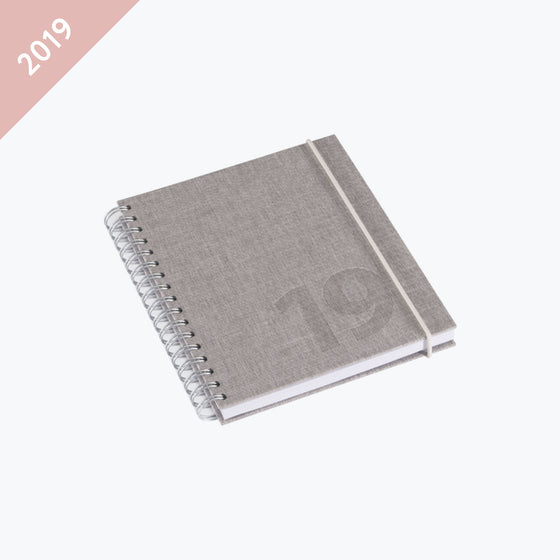Bookbinders Design - 2019 Diary - Wire-O - Small - Kalkstein