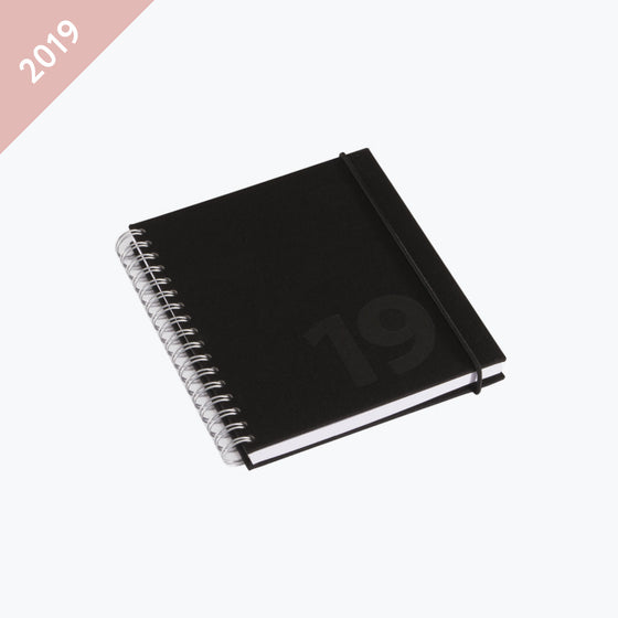 Bookbinders Design - 2019 Diary - Wire-O - Small - Black