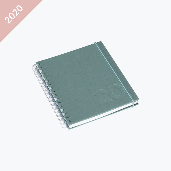 Bookbinders Design - 2020 Diary - Wire-O - Small - Aqua
