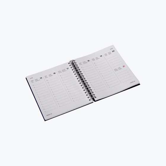 Bookbinders Design - 2020 Diary - Wire-O - Small - Light Grey