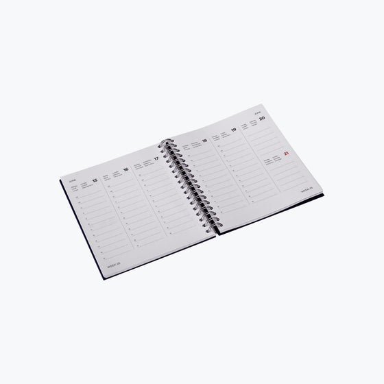 Bookbinders Design - 2020 Diary - Wire-O - Small - Clear