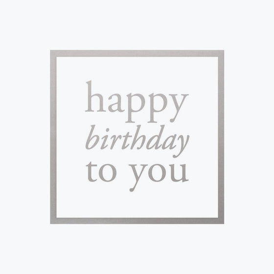 Bookbinders Design - Card - Happy Birthday - Silver