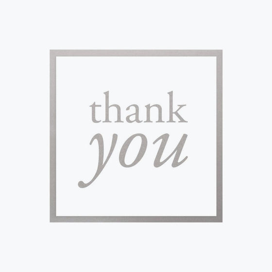 Bookbinders Design - Card - Thank You - Silver