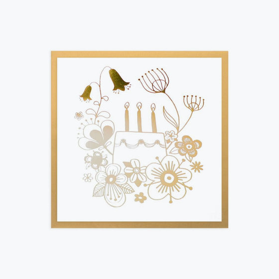 Bookbinders Design - Card - Flowers - Gold