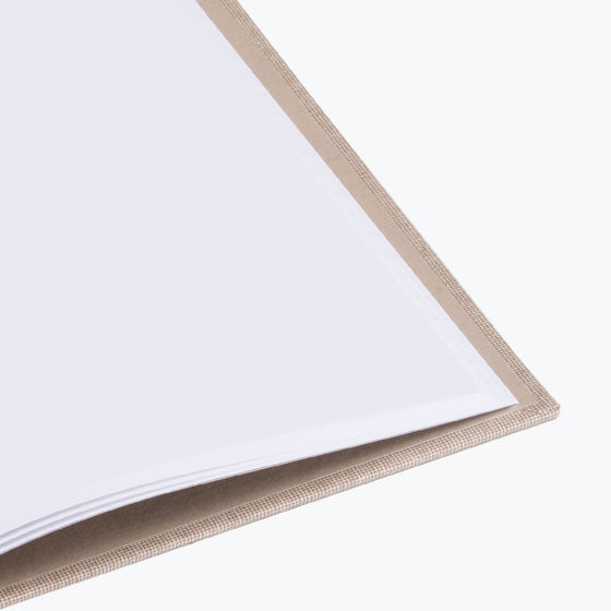 Bookbinders Design - Cloth Notebook - Large - Ivory