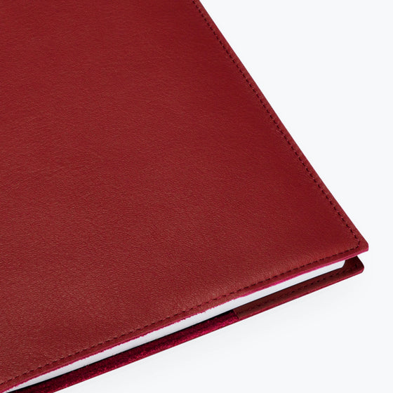 Bookbinders Design - Notebook - Leather - Regular - Warm Red