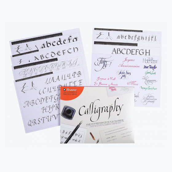 Brause - Calligraphy Workbook - Calligraphy Practise Cards