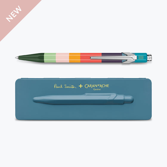 Paul Smith 849 Petrol Blue ballpoint pen