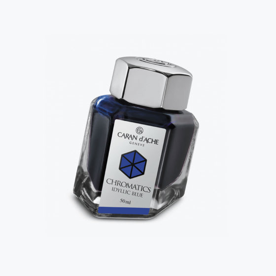 Caran d'Ache - Fountain Pen Ink - Chromatics - Idyllic Blue 50ml
