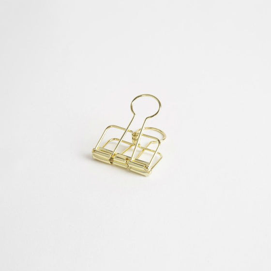 Bookbinders Design - Bulldog Clip - Gold