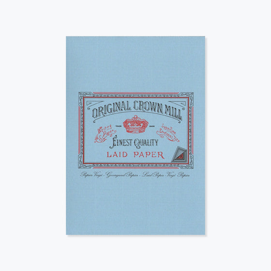 Crown Mill - Writing Pad - A5 - Blue
