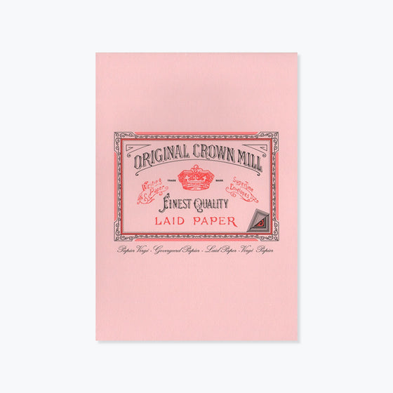 Crown Mill - Writing Pad - A5 - Pink