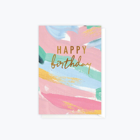 ELM Paper - Card - Birthday - Birthday Brush Colour