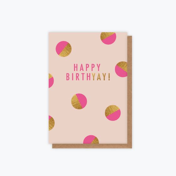 ELM Paper - Card - Birthday - Birthyay Pink Spots